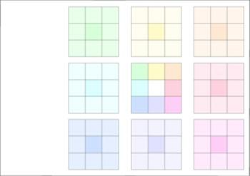 カラー9×9セルシート