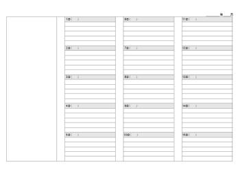 月間日記シート(1)