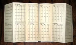 年間シートを「超」整理手帳にはさみ込む