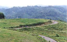 森吉山山麓高原のクロスカントリーランコース