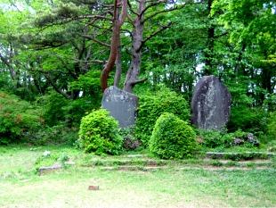 霊山城跡の石碑